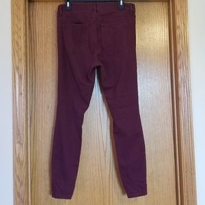 LOFT Pants - Ann Taylor Loft Merlot Leggings Pants Size 8